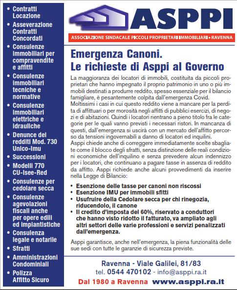 Emergenza Canoni. Le richieste di ASPPI al Governo